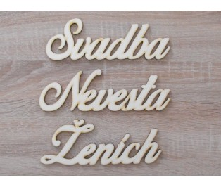 Ženích Svadba Nevesta set 50x145mm