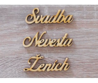 Ženích Svadba Nevesta set 20x60mm